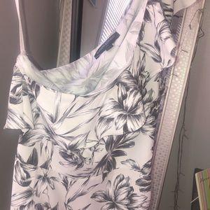 One shoulder Banana Republic semi-formal dress